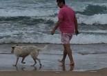 My husband and Chelsea at Cronulla Beach.