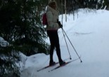 First attempt at cross country skiing